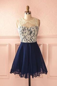 Princess Prom Dresses, 2019 Scoop Homecoming Dresses A Line Short/Mini Chiffon & Lace, Plus Size Formal Dresses and Plus Size Party Dresses are great for your next special Occassion at cheap affordable prices The Dress Outlet. Dark Blue Prom Dresses, Lace Homecoming Dresses, Dresses Short, Prom Gowns, Dress Prom, Dress Lace, Formal Dresses, Dresses Dresses, Wedding Dresses