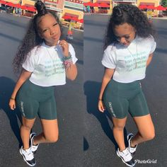 Aug 2019 - Kendell Gaulden and Amira Carter💘. Summer Shorts Outfits, Cute Swag Outfits, Spring Outfits, Teenage Outfits, Teen Fashion Outfits, Womens Fashion, Jugend Mode Outfits, Black Girl Fashion, Barbie