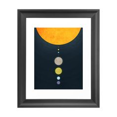 Playing on modern geometry, the From the Sun Art Print directs the eye out from the sun, with an alignment of planets from our solar system. Simplistic and striking, this colorful print will pop agains...  Find the From the Sun Art Print, as seen in the Orbital Mid-Century Collection at http://dotandbo.com/collections/2015-trends-orbital-mid-century?utm_source=pinterest&utm_medium=organic&db_sku=105058