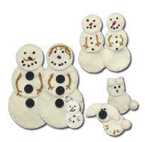 Lumenaris | Products | Felt | Ornaments | Snowman Family