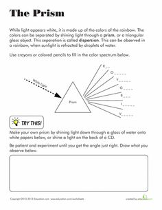 Printables Reflection And Refraction Worksheet transparent translucent opaque lights worksheets and articles prism