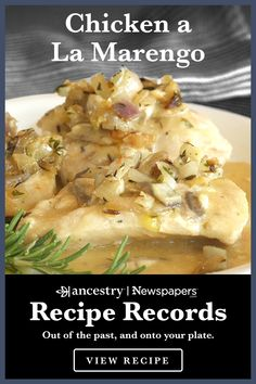 Ancestry's Recipe Records Ancestry's Recipe Records are a wonderful way to try out historical dishes Turkey Dishes, Turkey Recipes, Meat Recipes, Mexican Food Recipes, Chicken Recipes, Dinner Recipes, Cooking Recipes, Healthy Recipes, Chicken Ideas