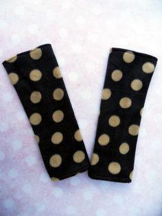 Stulpen+Armstulpen++Handschuhe+Punkte+grau+beige+von+Zellmann+Fashion+auf+DaWanda.com
