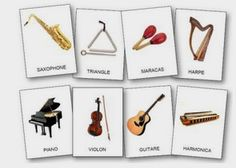 http://dessinemoiunehistoire.net/     L'imagier des instruments de musique à imprimer