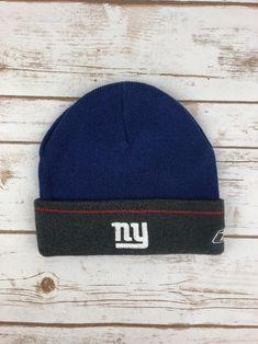 Reebok NY Giants Beanie Blue Grey Winter Snow Cap Football Fan Skull Hat  NFL  Reebok. Winter SnowMen s FashionNflBlue ... 29b47d8f9c87