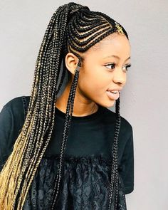 Long Braided Ponytail With Fulani Braids Her Hair African in measurements 1029 X 1344 African American Braided Ponytail Hairstyles - Braid hairstyles are Cool Braid Hairstyles, Braided Hairstyles For Black Women, African Braids Hairstyles, Braids For Black Women, Braids For Black Hair, Girl Hairstyles, Black Hairstyles, Protective Hairstyles, Summer Hairstyles