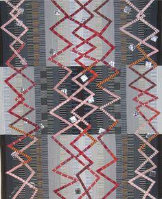 Ragtime, 100 x 125cm, stripes quilt by Gabrielle Paquin