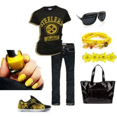 STEELERS!!!!!!!, created by kristineohkristine on Polyvore