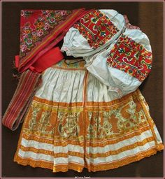 Trenčianska Teplá, Western Slovakia. Folk Costume, Costume Dress, Costumes, Traditional Fashion, Traditional Outfits, Folk Clothing, The Older I Get, Embroidery Fashion, Eastern Europe