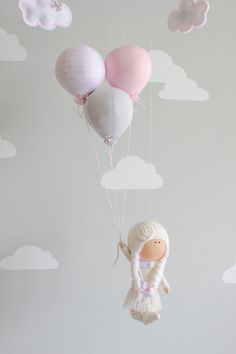 Travel Theme Baby Mobile Doll Mobile Pink and by sunshineandvodka