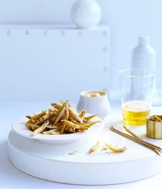 Australian Gourmet Traveller seafood recipe for fried whitebait with cumin salt and smoky mayonnaise Fish Recipes, Seafood Recipes, Lemon Roasted Potatoes, Danish Food, Recipe Search, Fish And Seafood, Mayonnaise, Finger Foods, Food Inspiration