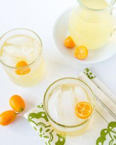 Kumquat lemongrass rum cocktail