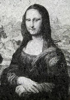 Mona Lisa made from thousands of doodles by Sagaki Keita.