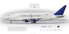 Boeing 747-409LCF N249BA Dreamlifter | Civil aircraft art print | www.aviaposter.com | #scetch #art #airliners #aviation #aviaposter #jetliner #dreamlifter #b747 #jumbojet