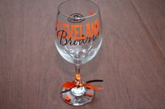 Cleveland Browns Wine Glass by GameDayCheers on Etsy, $12.00