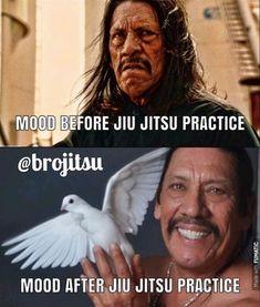 Peaceful state of mind. Martial Arts Humor, Martial Arts Quotes, Jiu Jitsu Quotes, Jiu Jitsu Meme, Bjj Memes, Jiu Jitsu Training, Mma Gear, Ju Jitsu, Brazilian Jiu Jitsu