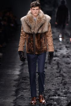 Fendi Men's RTW Fall 2014 - For more like this click on the image or follow us and do not forget to repin!