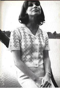 1969 Crochet Lace Top Pattern Buttoned by CrochetPatternRewind, $2.50