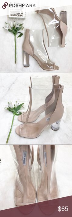 • Steve Madden Portal Clear Booties • Stay looking trendy with these clear ankle booties called Portal by Steve Madden. Very Kardashian like style! They feature a clear block heel & peep toe detail. Lightly used once. Steve Madden Shoes Ankle Boots & Booties