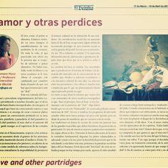 De amor y otras perdices por Clara Zamora Meca. El Periódico de Sotogrande!