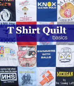 How to Make a Tee Shirt Quilt: Materials & Cutting