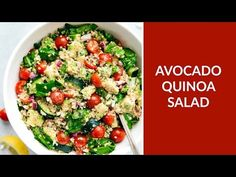 This Avocado Quinoa Salad is a powerhouse salad packed with good-for-you ingredients and the best healthy lemon vinaigrette.