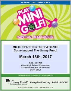 Milton High Happenings: Putting for Patients at Milton High School March 1...