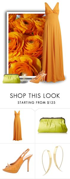 """""""Orange Roses Gown"""" by majezy ❤ liked on Polyvore featuring Emilia Wickstead, BCBGMAXAZRIA, Christian Dior and Lana"""