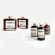 package design for Noble Tonic Set (syrups and vinegars)