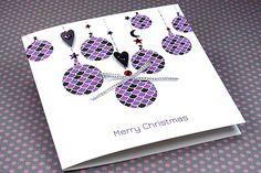 """Handmade Christmas Card """"Festive Bubbles"""""""