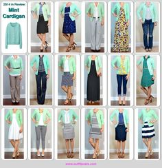 Outfit Posts: mint cardigan - 17 ways Green Cardigan Outfit, Mint Cardigan, Cardigan Outfits, Casual Outfits, Cute Outfits, Fashion Outfits, Mint Blazer, Mint Sweater, Piece Of Clothing