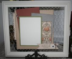 Decor Frame by Jennifer Kramer using CTMH Huntington paper