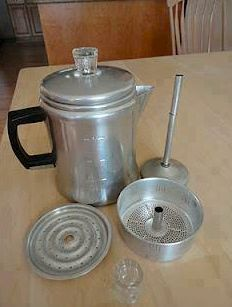 My mom made the best coffee with this aluminum percolator.