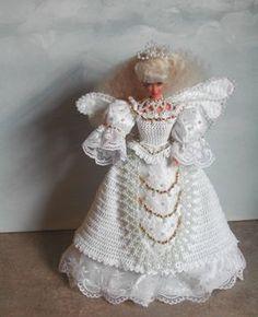 Crochet Fashion Doll Barbie Pattern- #365 WINGS OF LACE