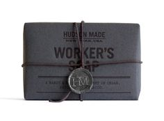 hudson made workers soap  http://amusedbrain.wordpress.com/2013/02/02/packaging-hudson-made-workers-soap/