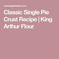 Best Single Crust Gluten Free Classic Pie Crust Recipe on Pinterest