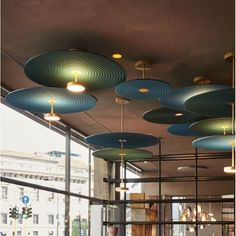 The Feel Pendant by Penta is a modular lighting piece that is created to upscale the atmosphere of any contemporary architecture via a skillful management of illumination and sound waves. Large Pendant Lighting, Contemporary Pendant Lights, Architecture Restaurant, Interior Architecture, Restaurant Interior Design, Home Interior, Home Lighting, Lighting Design, Ceiling Lamp