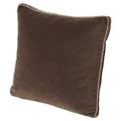 Tildy Classic Chocolate Brown Velvet Pillow - 22x22 | Kathy Kuo Home
