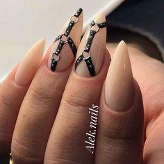 Goth Nail Art, Goth Nails, Swag Nails, Anime Nails, Cherry Nails, Valentine Nail Art, Nail Art Designs Videos, Finger Nail Art, Luxury Nails