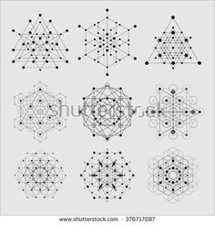 Sacred geometry vector design elements. Alchemy, religion, philosophy, spirituality, hipster symbols and elements. - stock vector