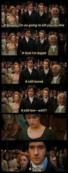 Ahahah Darcy's inner struggles. Pardon the language.