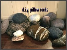 Y rock pillows that remeble pebbles and boulders, but are soft cushions for reading, relaxing, building forts or creating areading corner. Forest Bedroom, Woodland Bedroom, Forest Theme Bedrooms, Forest Nursery, Bedroom Themes, Bedroom Decor, Bedroom Ideas, Bedroom Furniture, Rock Bedroom