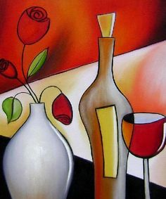 .wine, bottle and vase