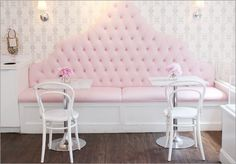 Sweets Cupcake Shop in downtown Boston ~ Sweet indeed! I NEED THAT COUCH. I NEED IT.