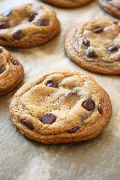 Soft and chewy dark brown sugar chocolate chip cookies