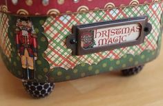 Love the fun detailed sides of @Pamela Hichens Bray's altered Nutcracker Sweet gift box! #graphic45
