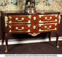 obra: André-Charles Boulle - Estilo Luis XIV Cómoda - Luis XIV de estilo Marble…