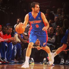 Jose Calderon made his debut with the #detroitpistons tonight against the Knicks. #detroitbasketball #nba #josecalderon - @detroitpistons- #webstagram