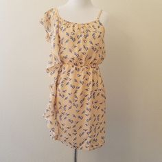 76d140c1842c0 Willow & Clay Size XS Blue Bird Ruffle Light Summer Dress #WillowClay  Women's Dresses