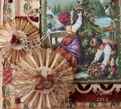 Gorgeous, Christmas rosettes christmas cards, christma tag, christma dec, christma rosett